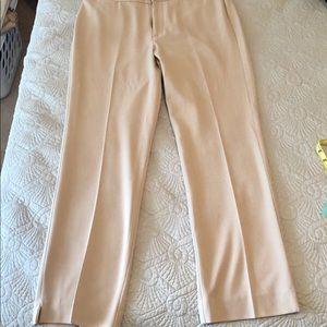 Charted Club Ankle Length Pants Khaki